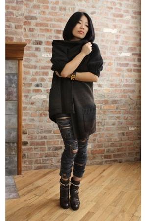 vince sweater - Rodan vs Griffith jeans - Nenette Lepore shoes - Hermes accessor