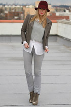 asos shoes - Rich & Skinny jeans - Juicy Couture hat - Dolce Vita Leather jacket
