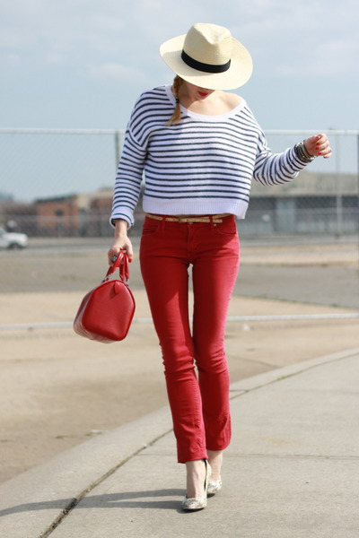 Rich &amp; Skinny jeans - Modern Vintage shoes - H&amp;M hat - H&amp;M top