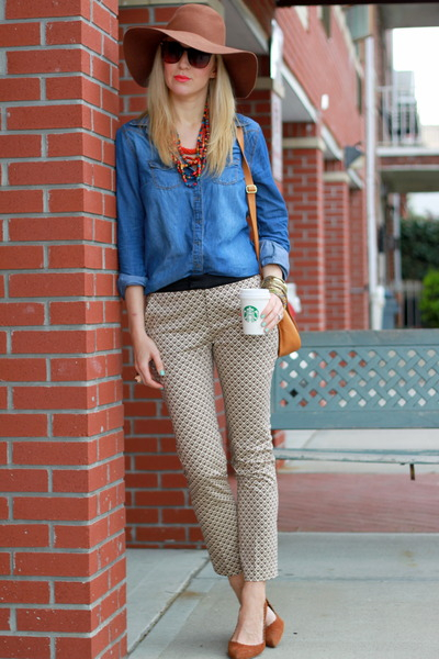 Zara pants - American Apparel hat - H&M shirt