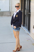 Michael Kors shirt - Zara shoes - Ralph Lauren blazer - H&M shorts
