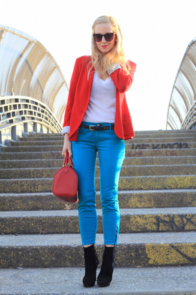 Rich &amp; Skinny jeans - Zara blazer - Louis Vuitton bag