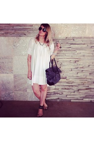 Bruunn4 dress - Renner bag - sunglasses - santa lolla flats