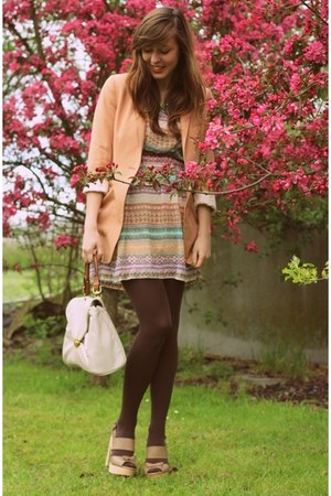 peach summer dress Forever 21 dress - nude H&M blazer