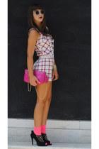 bubble gum Chloe bag - hot pink calvin klein socks - crimson sunglasses
