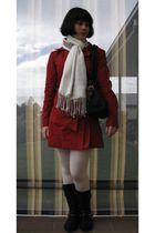 white Pashmina scarf - black black boots Target Australia boots