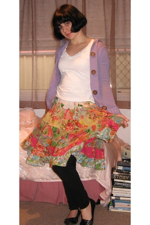Just jeans jacket - Target Australia t-shirt - Peace Angel skirt - supre legging