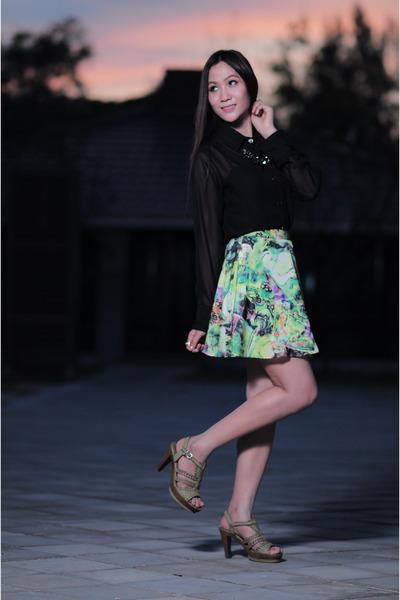 chartreuse skirt By Nawa dress - black fashion By Nawa dress