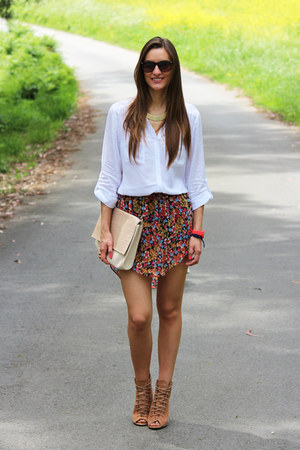 BLANCO skirt - Stradivarius bag - Primark blouse - za wedges - Marea watch