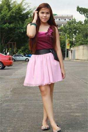 magenta People are People blouse - light pink Jellybean skirt