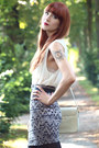 Patterned-urban-outfitters-skirt-bimba-lola-bag-new-look-blouse