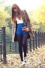 Camel-mango-coat-blue-zara-bag-blue-studded-blue-omighty-shorts