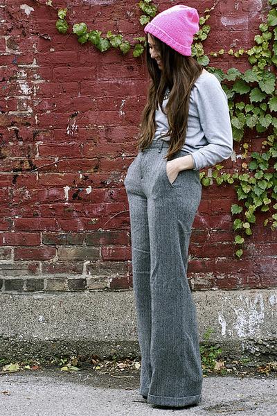 Rag and Bone pants - Etsy hat - Dolce Vita heels