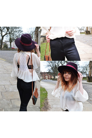 white batwing blouse Topshop shirt - Topshop pants
