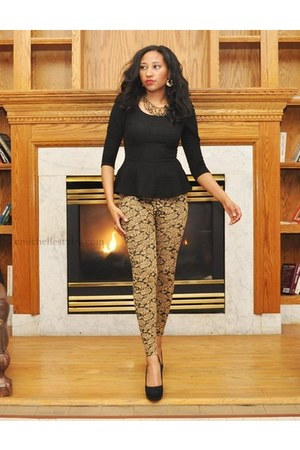 Arden B blouse - Windsor Store leggings - Steven Madden pumps