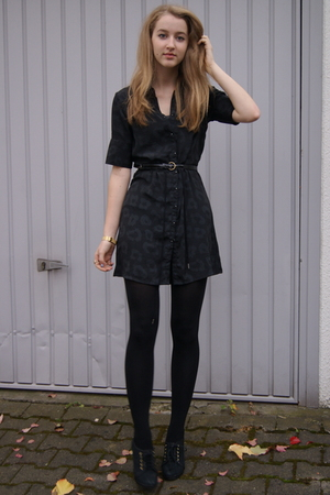 vintage dress - Primark belt - H&M shoes - VintageBijou BrigitteH&M accessories