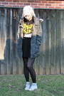 Dark-khaki-jacket-black-stockings-black-skirt-white-converse-sneakers