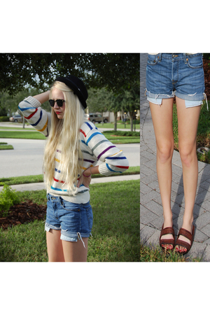 shorts - sweater - sunglasses -
