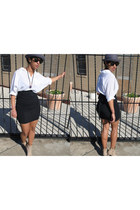 ETHER Movement Inc necklace - Topshop shoes - vintage hat - Ray Ban sunglasses