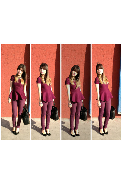 Zara heels - Aldo bag - Zara blouse - H&M pants