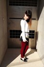 Brick-red-zara-leggings-white-necessary-clothing-shirt-black-vintage-bag