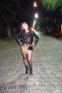 Black-leather-cacharel-boots-black-leather-fes-jacket