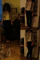 shirt - jacket - Gap jeans - Laura Coste shoes - necklace