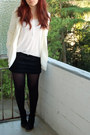 Ivory-h-m-blazer-black-mango-skirt-white-h-m-top-black-samboo-wedges-whi