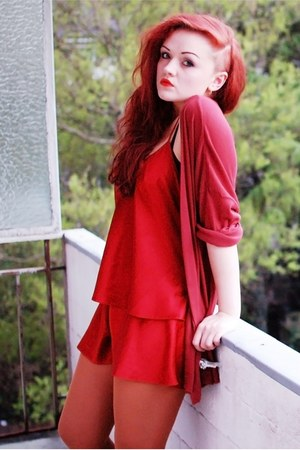 maroon H&M cardigan