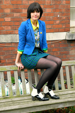 blue blazer Zara blazer - black checkered MartofChinacom boots