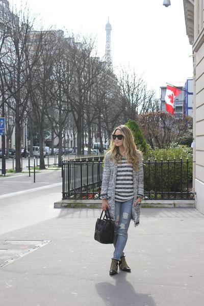 black striped Anine Bing shirt