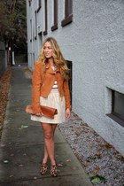 tawny suede H&M jacket - light brown leopard print sam edelman boots