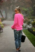hot pink knit Jcew sweater