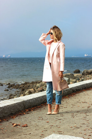 light pink maxi Topshop jacket