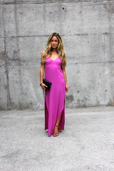 hot pink maxi Forever 21 dress