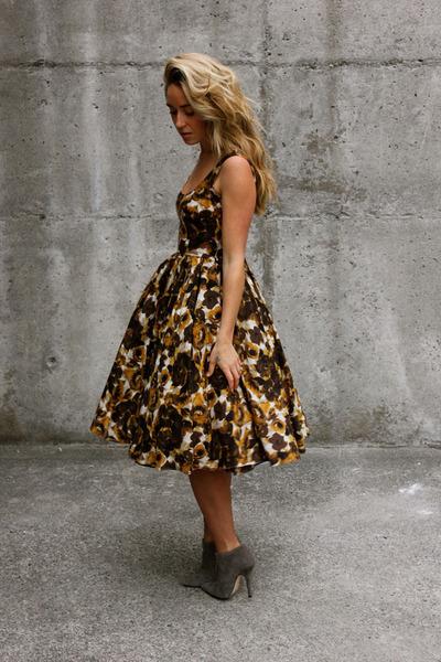 bronze midi asos dress