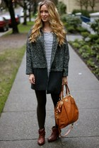 dark gray tweed Topshop jacket