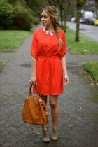 red shirtdress Shoshanna dress