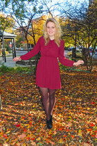 Aldo boots - Forever 21 dress - Target tights