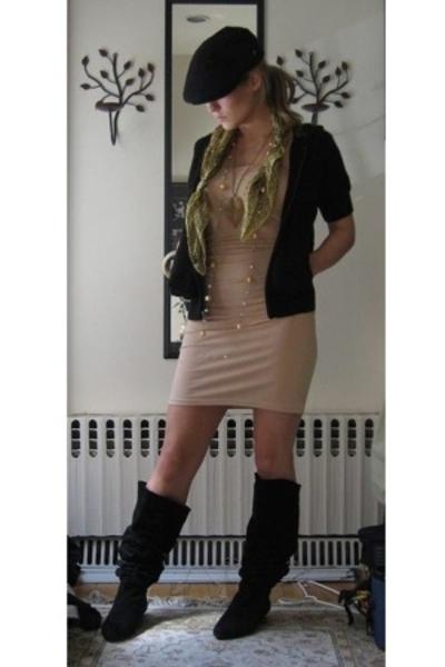 American Apparel dress - Michael Kors jacket - vintage boots - vintage hat - Fro