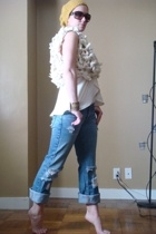 my design vest - my design vest - hollister jeans - H&M hat