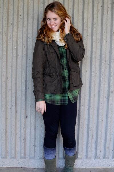 plaid green oldnavy shirt