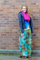maxi Macys skirt - pink cotton Forever 21 scarf