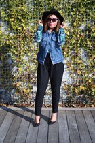 denim Gap vest - plaid H&ampM shirt - Nordstrom pants