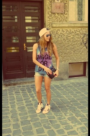ragged priest top - Givenchy bag - Zara shorts - Adidas sneakers