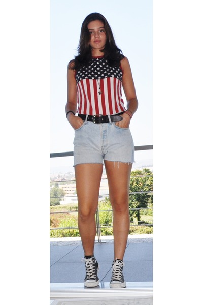 Converse Sneakers Women on 501 Levis Shorts Usa Flag Levis Tops D G
