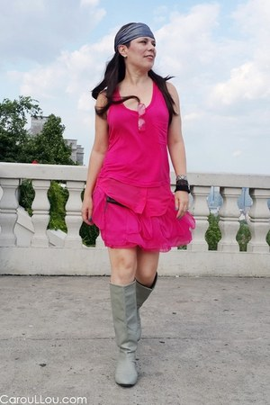 no brand top - Muji boots - no brand shirt - Cocolitaca bracelet