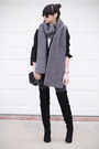 Black-thigh-high-zara-boots-heather-gray-knitted-wool-and-the-gang-scarf