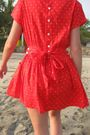 Red-vintage-dress-black-forever-21-sunglasses