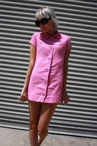pink vintage from Castaway Vintage dress - black Forever 21 sunglasses